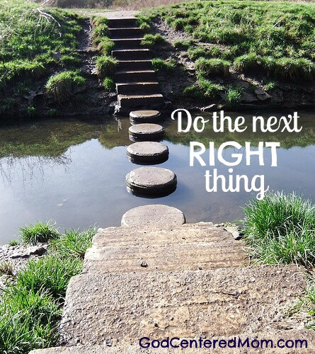 Do The Next Right Thing Heart Of The Journey